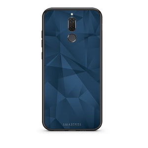 39 - huawei mate 10 lite Blue Abstract Geometric case, cover, bumper