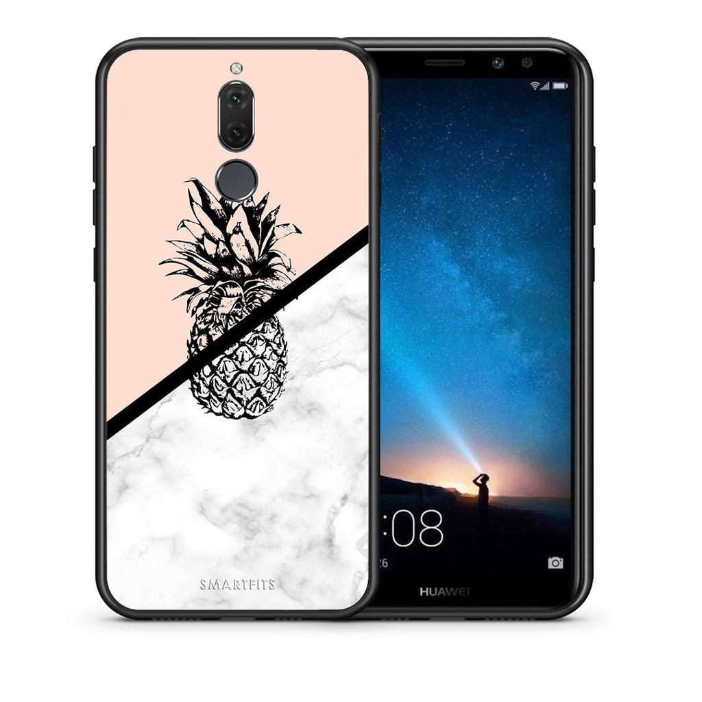 4 - huawei mate 10 lite Pineapple Marble case, cover, bumper