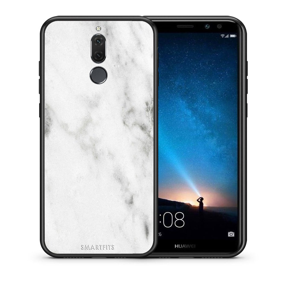 2 - huawei mate 10 lite White marble case, cover, bumper