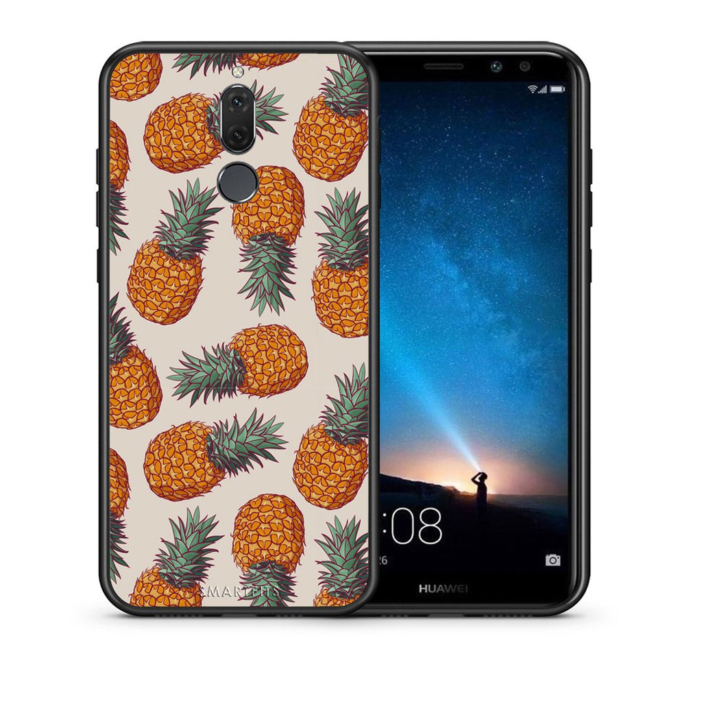 99 - huawei mate 10 lite Summer Real Pineapples case, cover, bumper