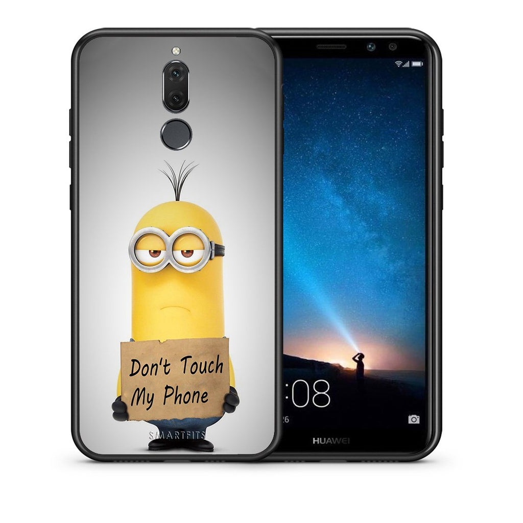 4 - huawei mate 10 lite Minion Text case, cover, bumper