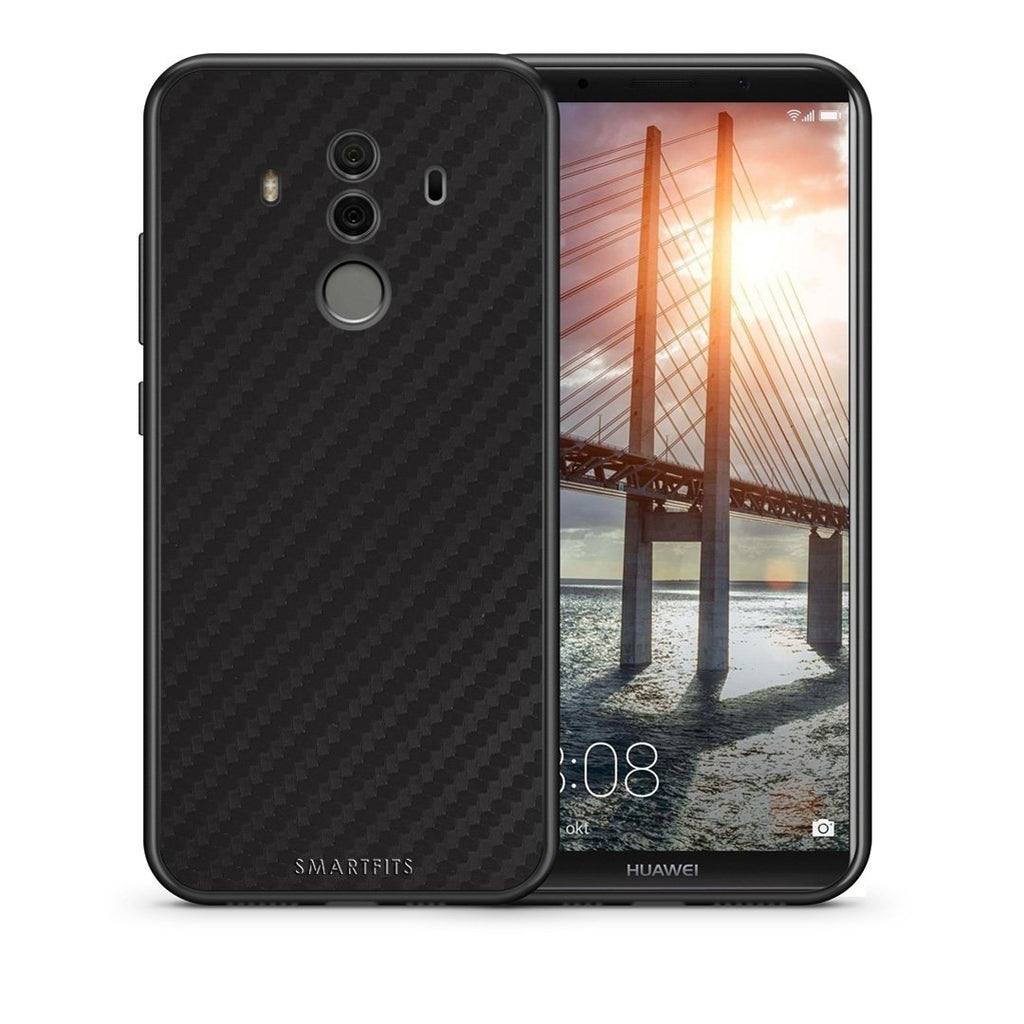 Θήκη Huawei Mate 10 Pro Black Carbon από τη Smartfits με σχέδιο στο πίσω μέρος και μαύρο περίβλημα | Huawei Mate 10 Pro Black Carbon case with colorful back and black bezels
