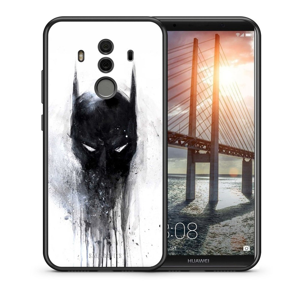 Θήκη Huawei Mate 10 Pro Paint Bat Hero από τη Smartfits με σχέδιο στο πίσω μέρος και μαύρο περίβλημα | Huawei Mate 10 Pro Paint Bat Hero case with colorful back and black bezels