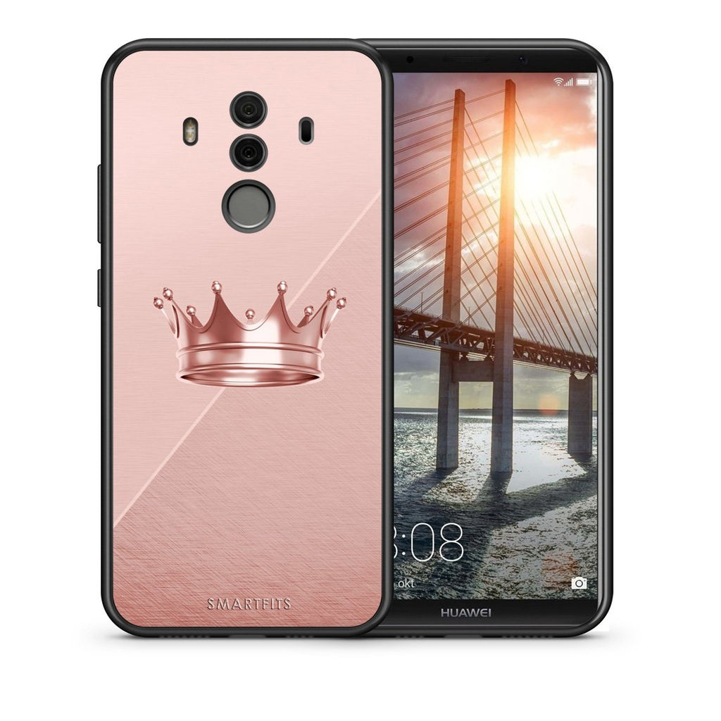 Θήκη Huawei Mate 10 Pro Crown Minimal από τη Smartfits με σχέδιο στο πίσω μέρος και μαύρο περίβλημα | Huawei Mate 10 Pro Crown Minimal case with colorful back and black bezels