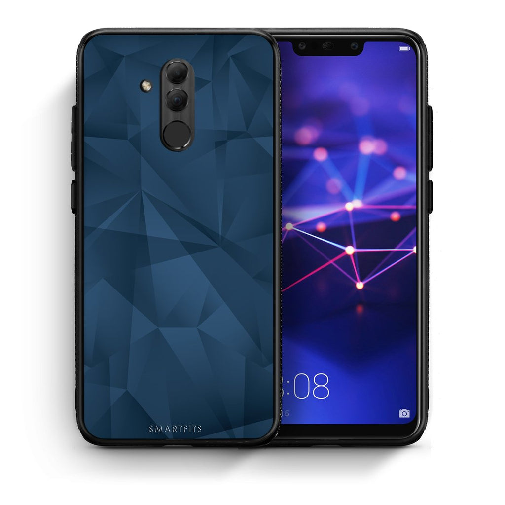 39 - Huawei Mate 20 Lite  Blue Abstract Geometric case, cover, bumper
