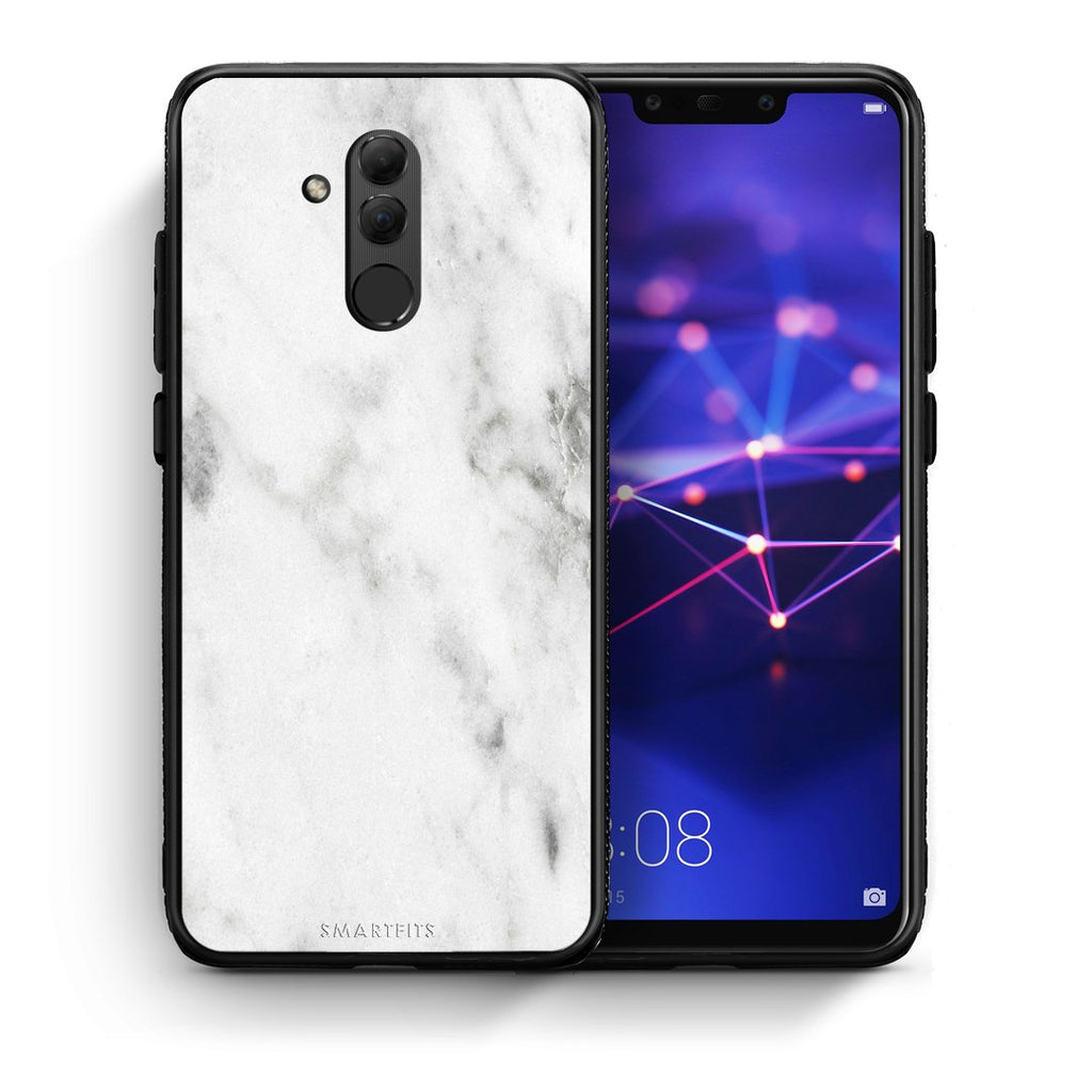 2 - Huawei Mate 20 Lite  White marble case, cover, bumper