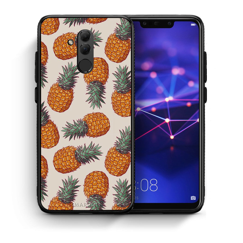 99 - Huawei Mate 20 Lite  Summer Real Pineapples case, cover, bumper