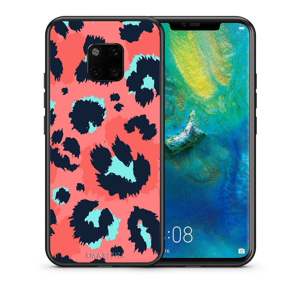 22 - Huawei Mate 20 Pro  Pink Leopard Animal case, cover, bumper
