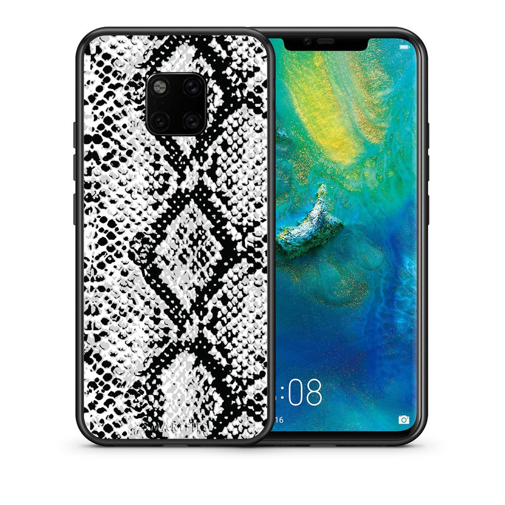 24 - Huawei Mate 20 Pro  White Snake Animal case, cover, bumper
