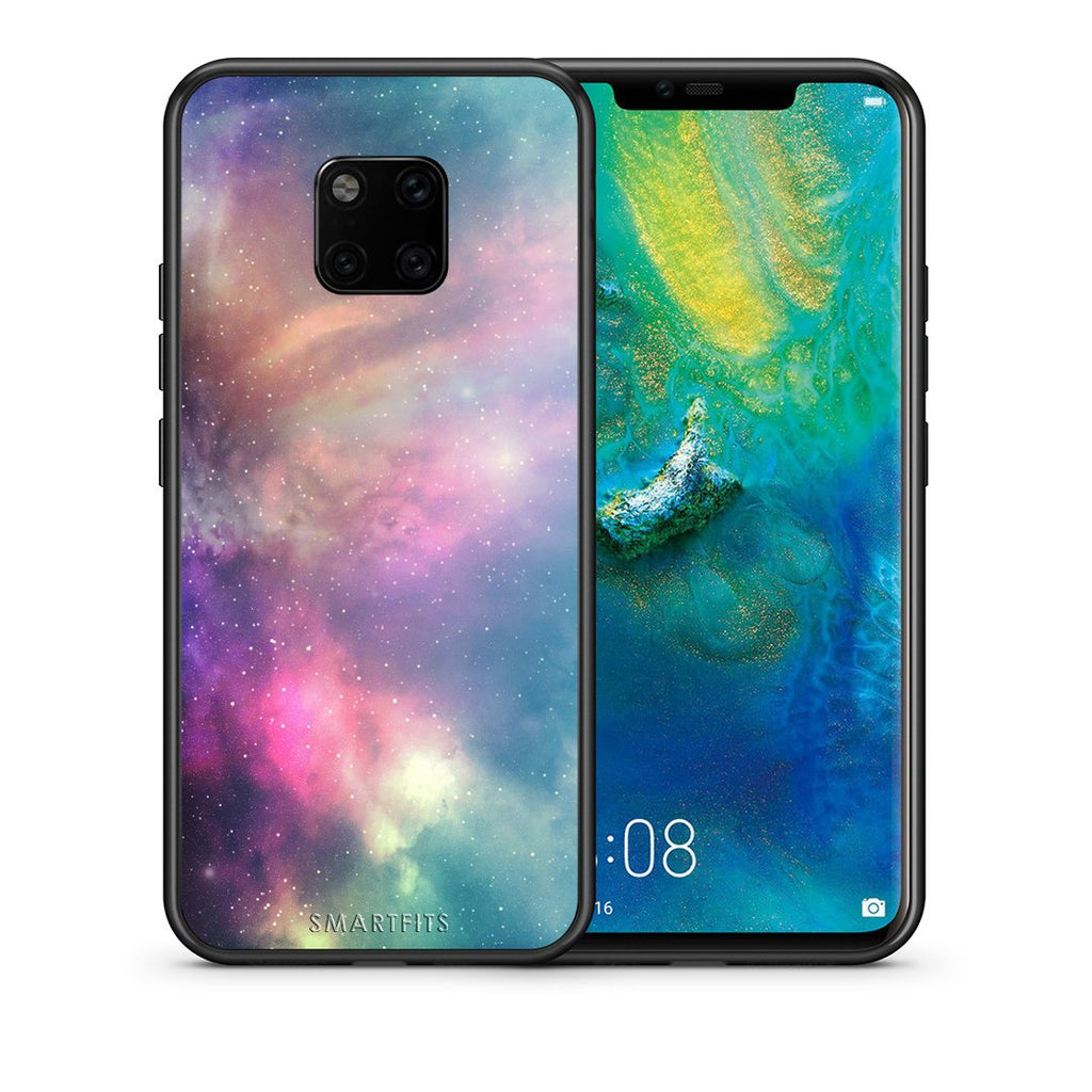 105 - Huawei Mate 20 Pro  Rainbow Galaxy case, cover, bumper