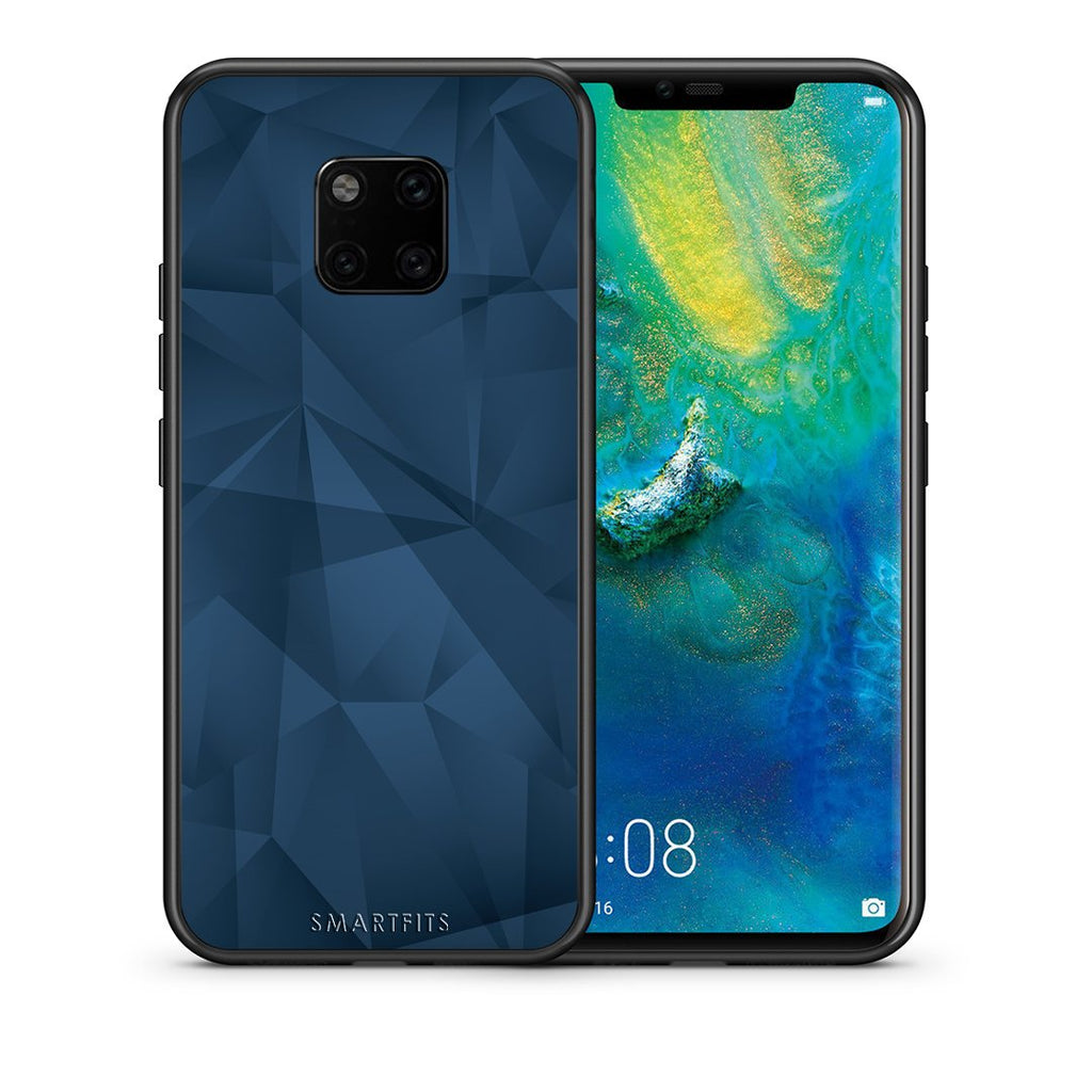39 - Huawei Mate 20 Pro  Blue Abstract Geometric case, cover, bumper
