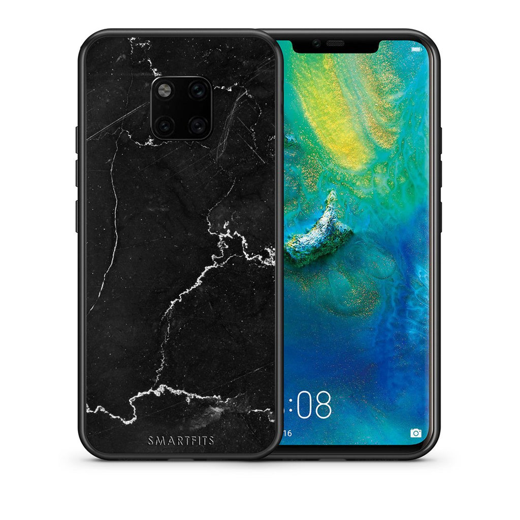 1 - Huawei Mate 20 Pro  black marble case, cover, bumper
