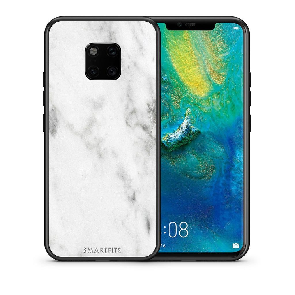 2 - Huawei Mate 20 Pro  White marble case, cover, bumper