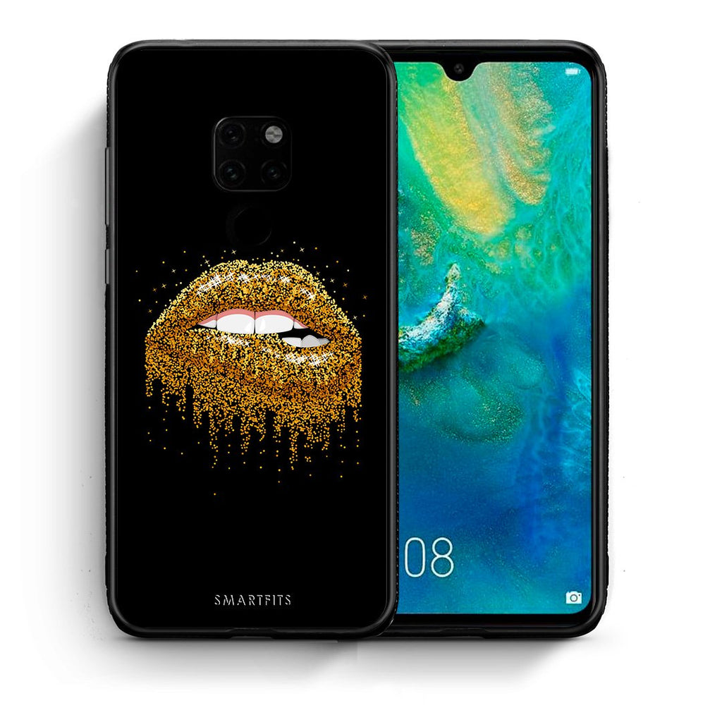 Θήκη Huawei Mate 20 Golden Valentine από τη Smartfits με σχέδιο στο πίσω μέρος και μαύρο περίβλημα | Huawei Mate 20 Golden Valentine case with colorful back and black bezels