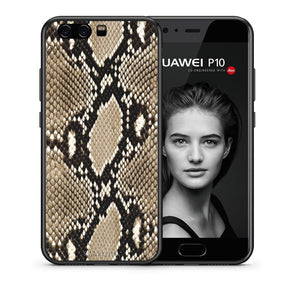 Θήκη Huawei P10 Fashion Snake Animal από τη Smartfits με σχέδιο στο πίσω μέρος και μαύρο περίβλημα | Huawei P10 Fashion Snake Animal case with colorful back and black bezels