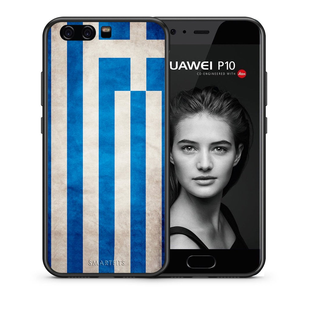 4 - huawei p10 Greece Flag case, cover, bumper