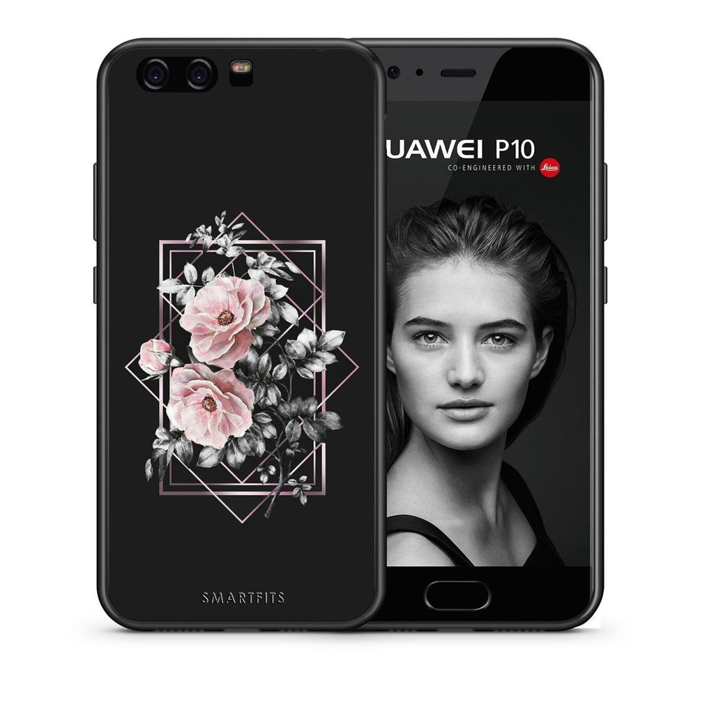 4 - huawei p10 Frame Flower case, cover, bumper