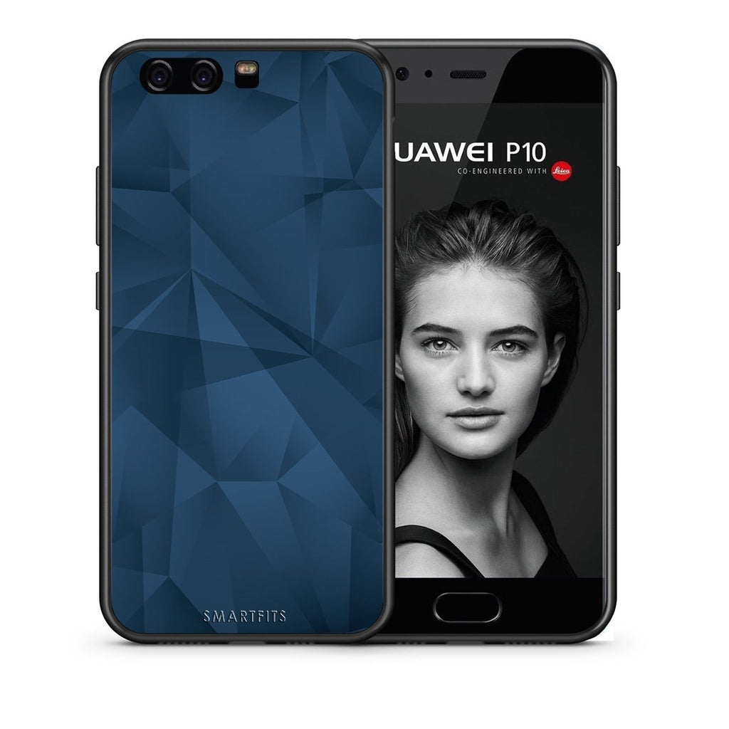 39 - huawei p10 Blue Abstract Geometric case, cover, bumper