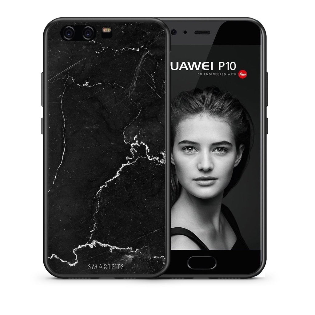 1 - huawei p10 black marble case, cover, bumper