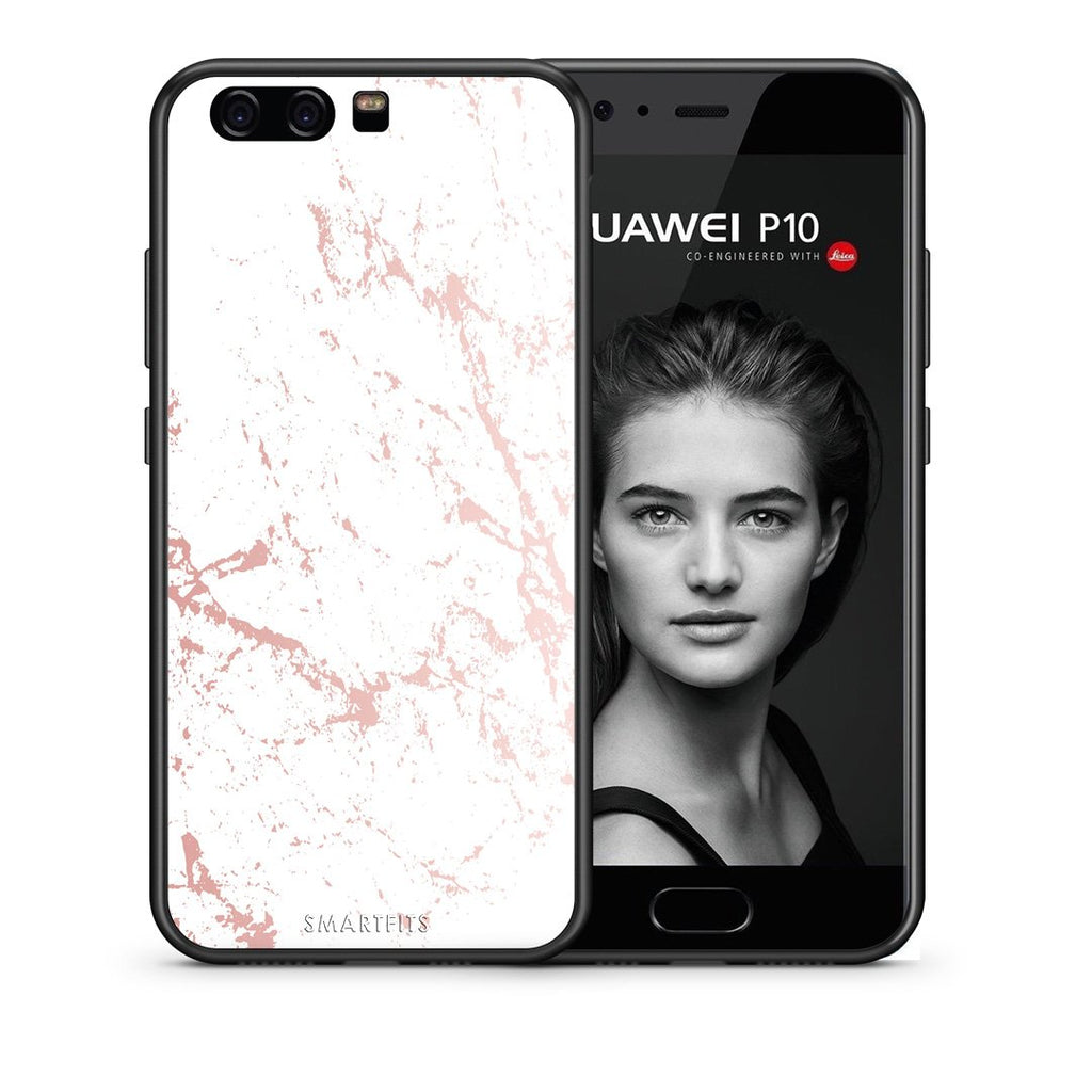 116 - huawei p10 Pink Splash Marble case, cover, bumper