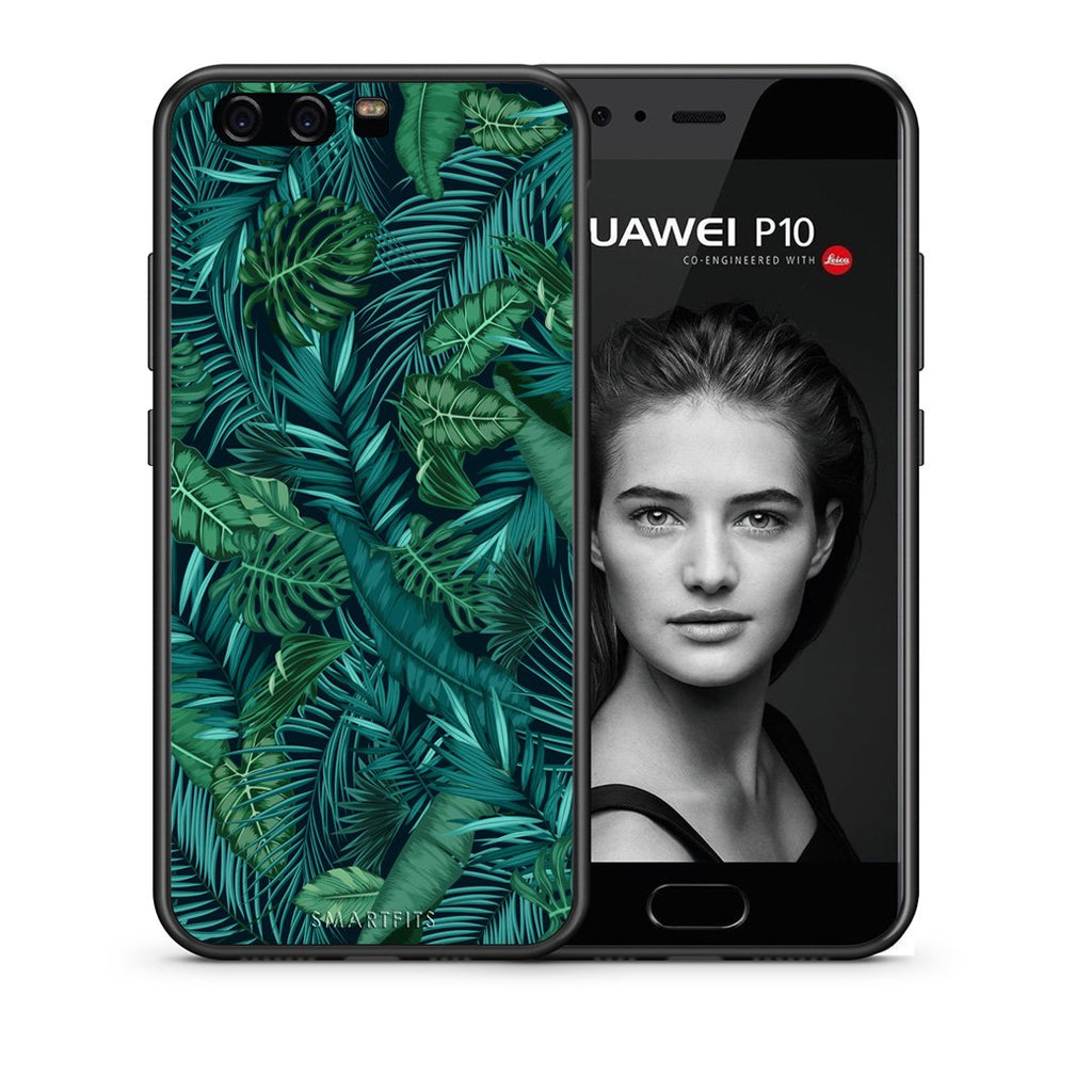 99 - huawei p10 Tropic Leaves case, cover, bumper