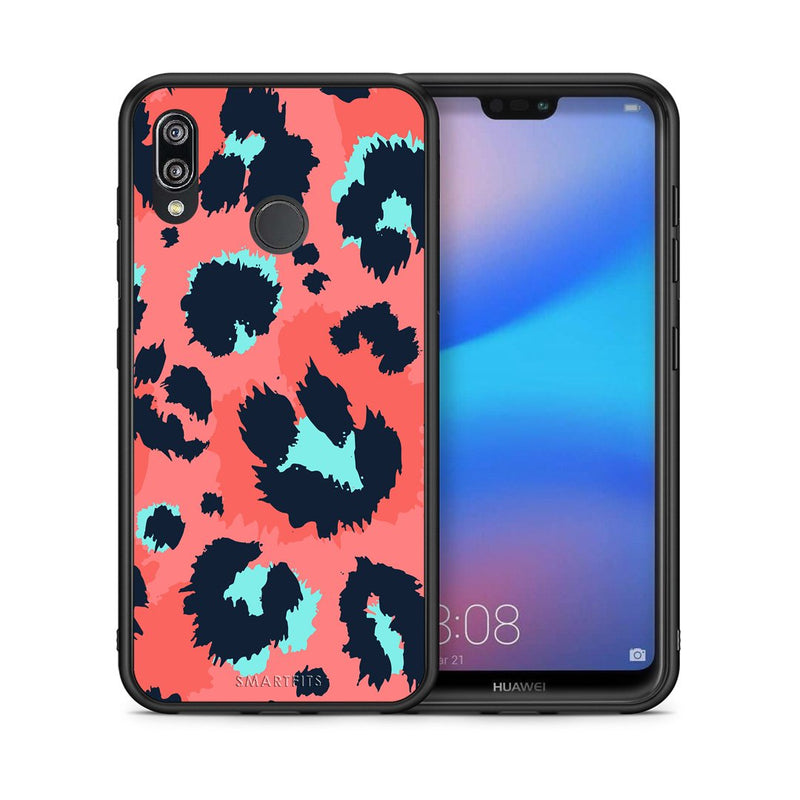 22 - Huawei P20 Lite Pink Leopard Animal case, cover, bumper