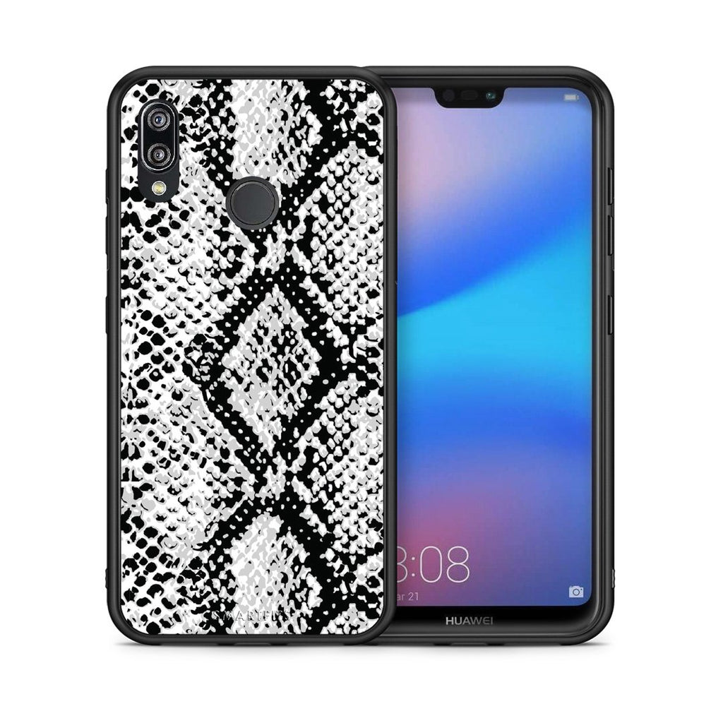 24 - Huawei P20 Lite White Snake Animal case, cover, bumper