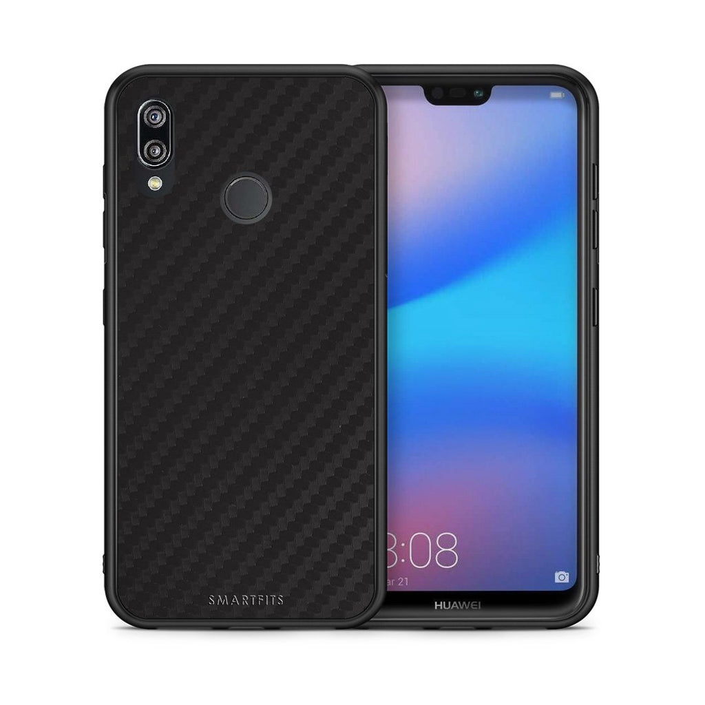 0 - Huawei P20 Lite Black Carbon case, cover, bumper