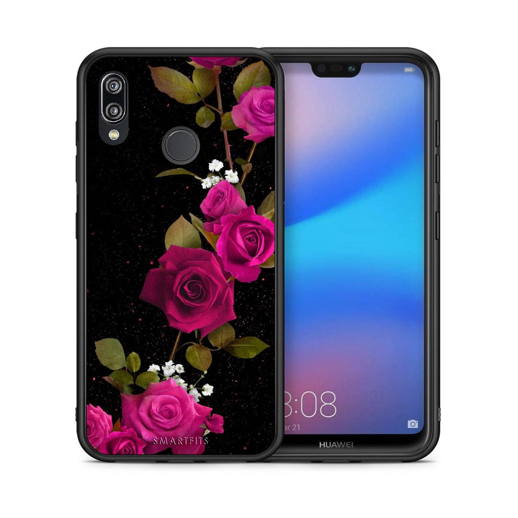 4 - Huawei P20 Lite Red Roses Flower case, cover, bumper