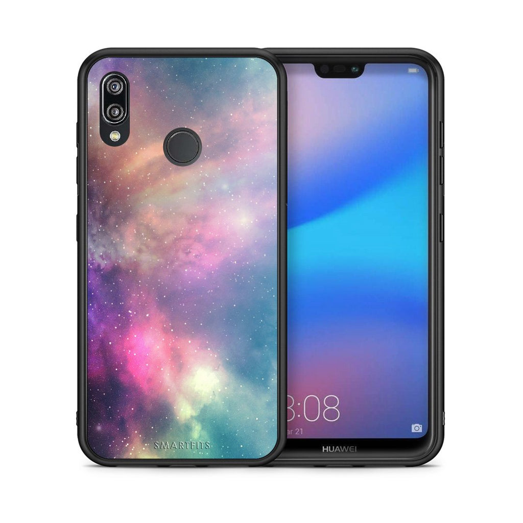 105 - Huawei P20 Lite Rainbow Galaxy case, cover, bumper