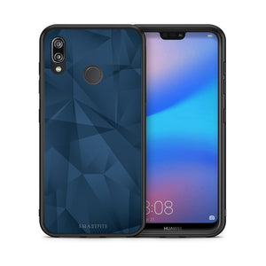 39 - Huawei P20 Lite Blue Abstract Geometric case, cover, bumper