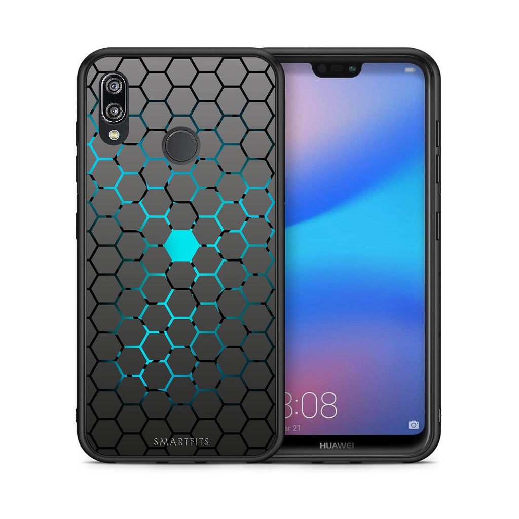 40 - Huawei P20 Lite Hexagonal Geometric case, cover, bumper