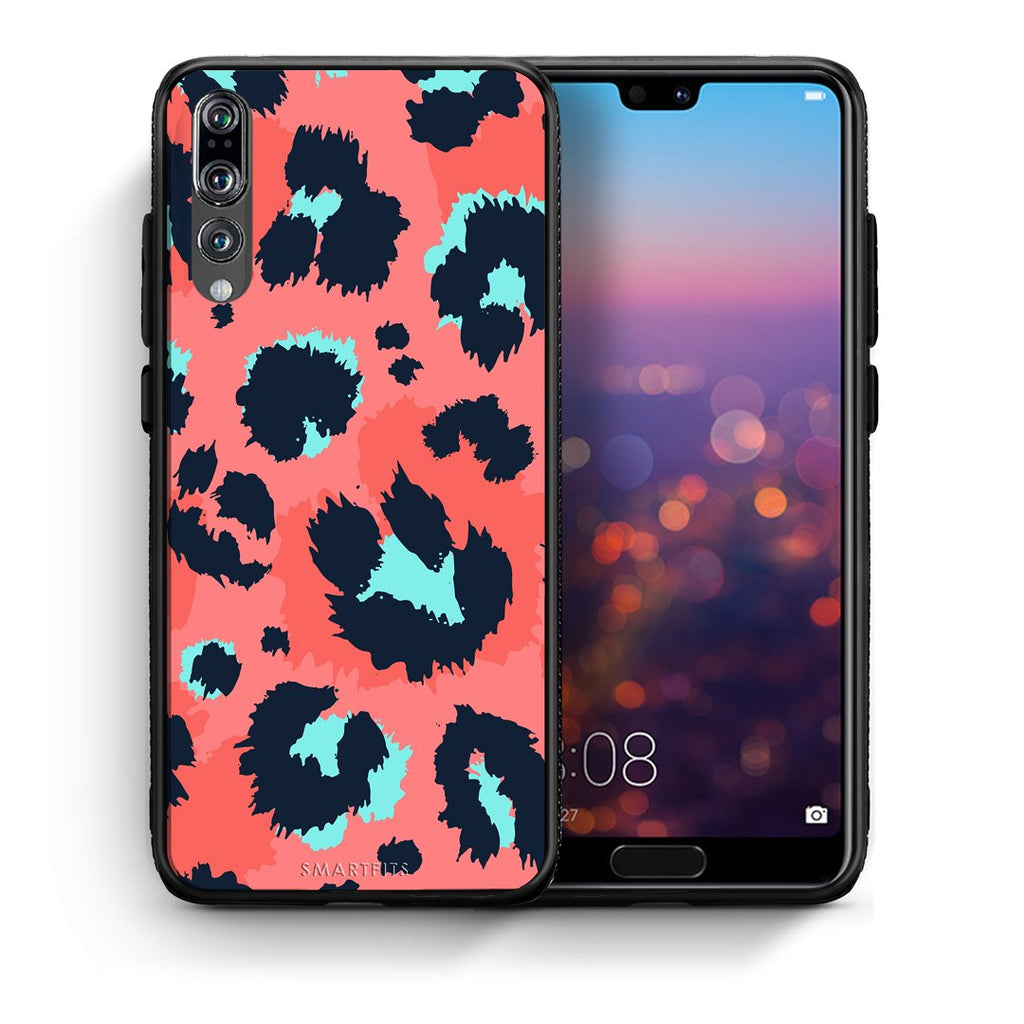 22 - huawei p20 pro Pink Leopard Animal case, cover, bumper