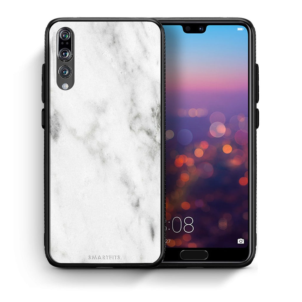 2 - huawei p20 pro White marble case, cover, bumper