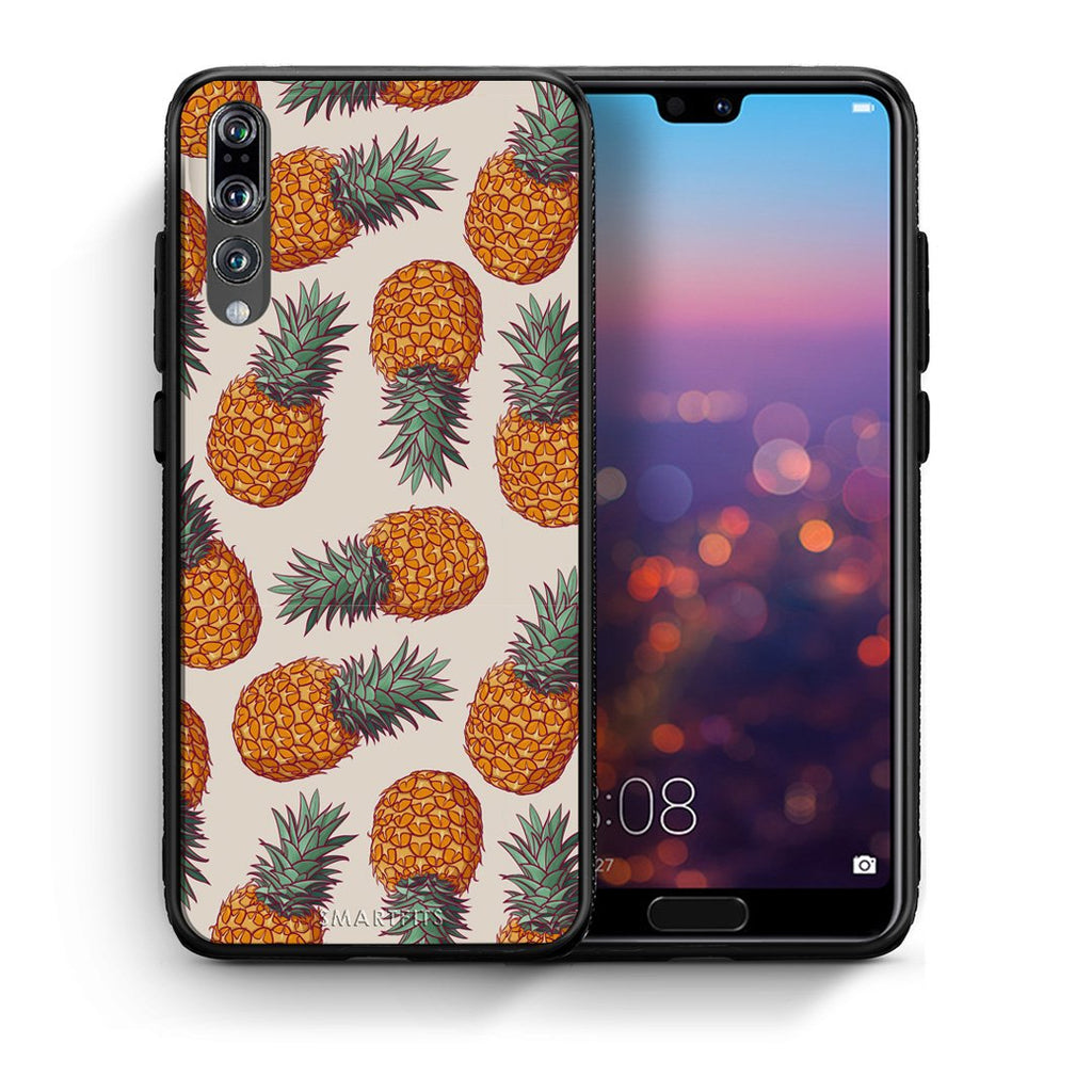 99 - huawei p20 pro Summer Real Pineapples case, cover, bumper