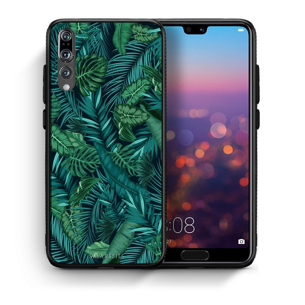 99 - huawei p20 pro Tropic Leaves case, cover, bumper
