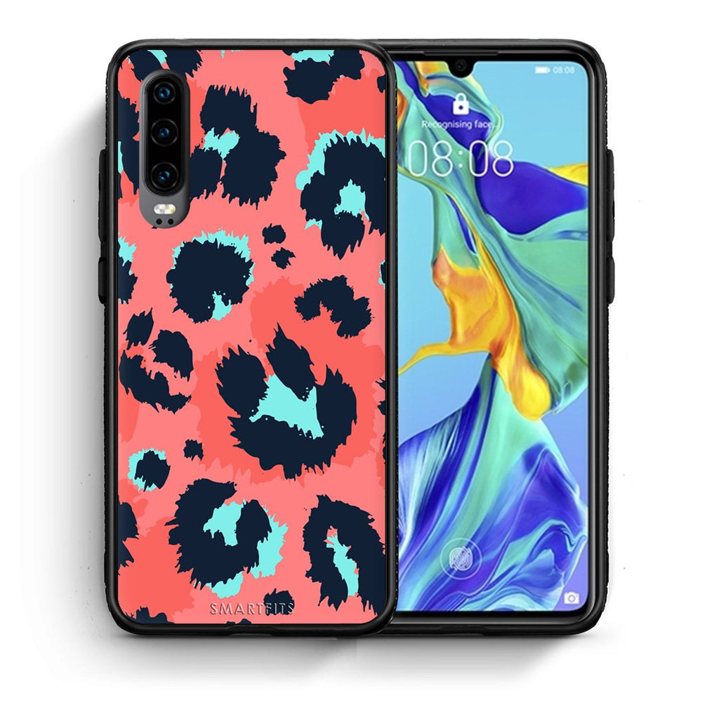 22 - Huawei P30  Pink Leopard Animal case, cover, bumper