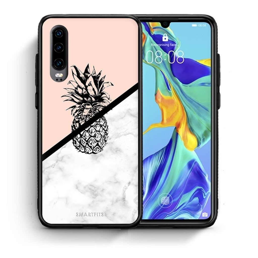 4 - Huawei P30 Pineapple Marble case, cover, bumper