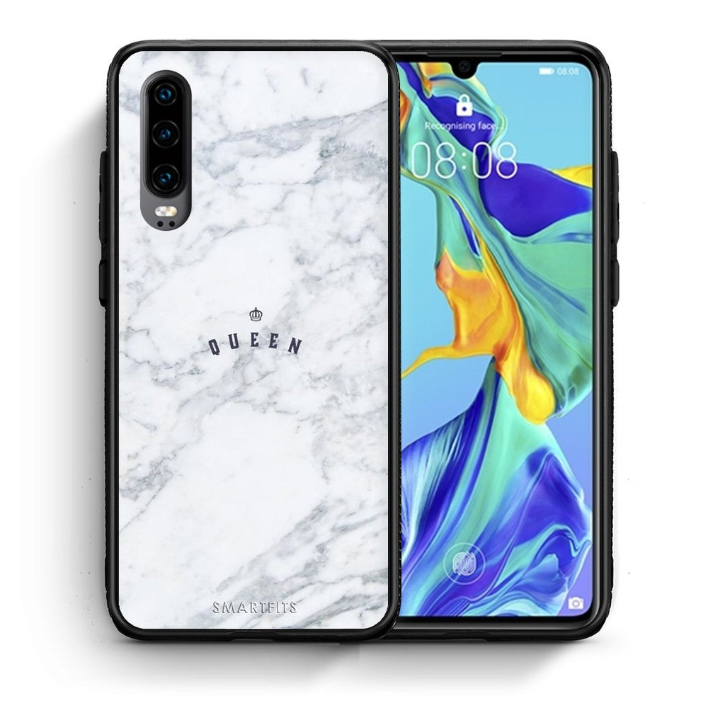 4 - Huawei P30 Queen Marble case, cover, bumper