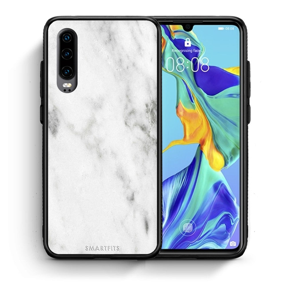 2 - Huawei P30  White marble case, cover, bumper
