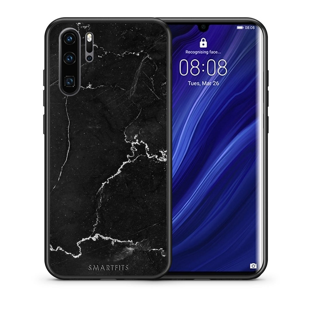 1 - Huawei P30 Pro  black marble case, cover, bumper