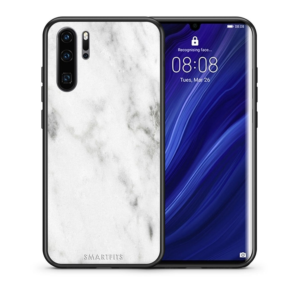 2 - Huawei P30 Pro  White marble case, cover, bumper