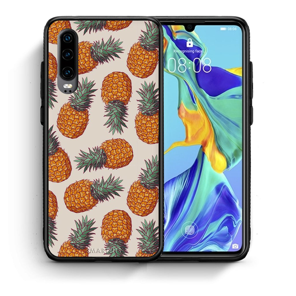 99 - Huawei P30  Summer Real Pineapples case, cover, bumper