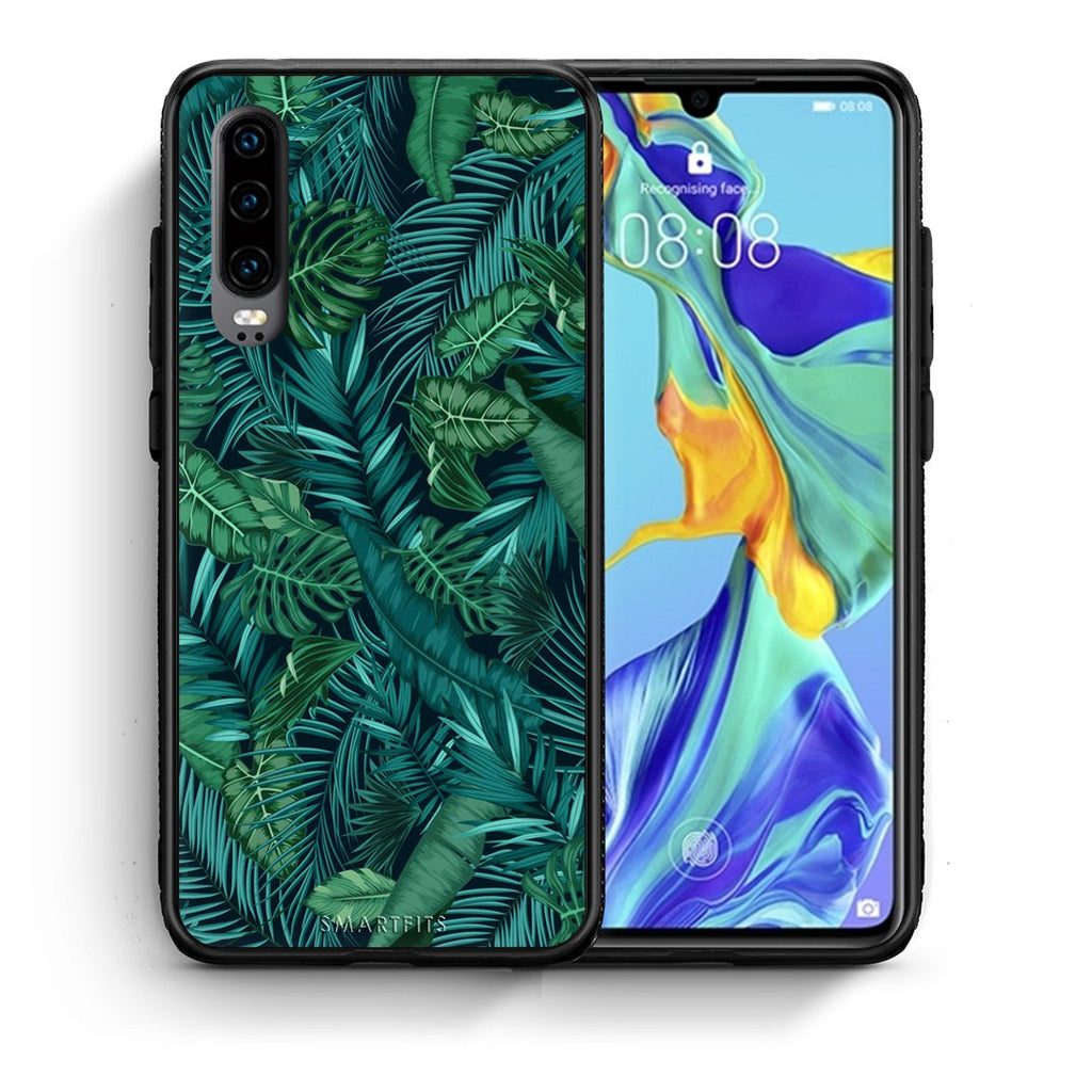 99 - Huawei P30  Tropic Leaves case, cover, bumper
