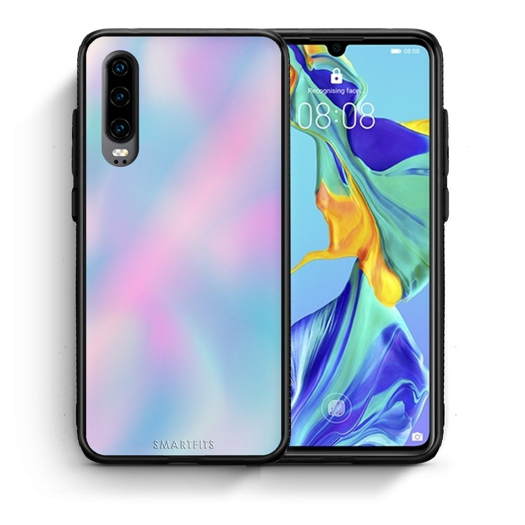 99 - Huawei P30  Watercolor Rainbow case, cover, bumper