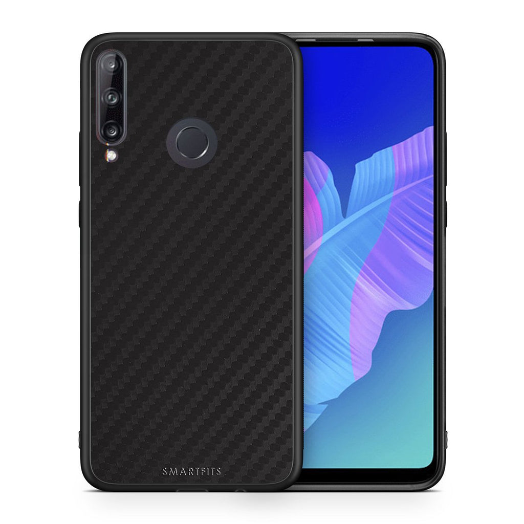 0 - Huawei P40 Lite E  Black Carbon case, cover, bumper