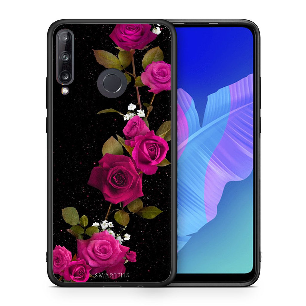 4 - Huawei P40 Lite E Red Roses Flower case, cover, bumper