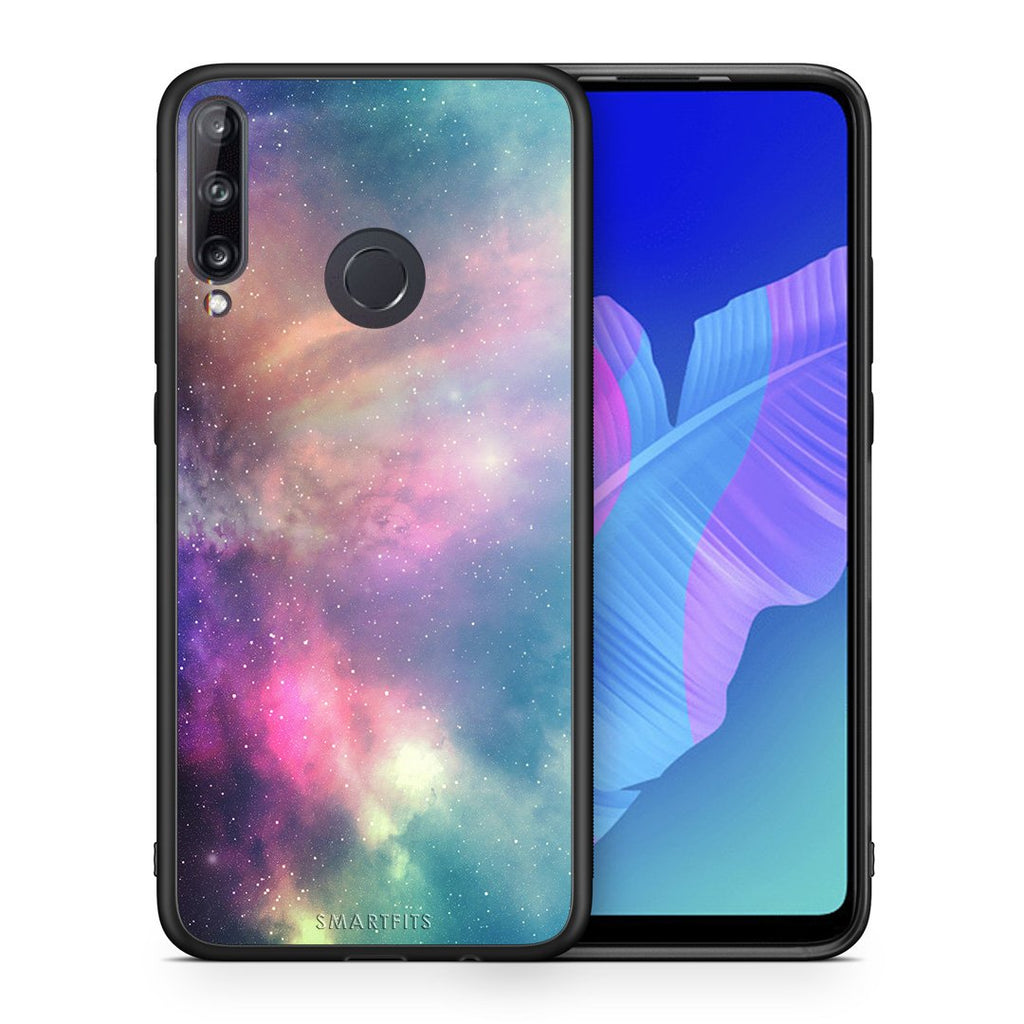 105 - Huawei P40 Lite E  Rainbow Galaxy case, cover, bumper