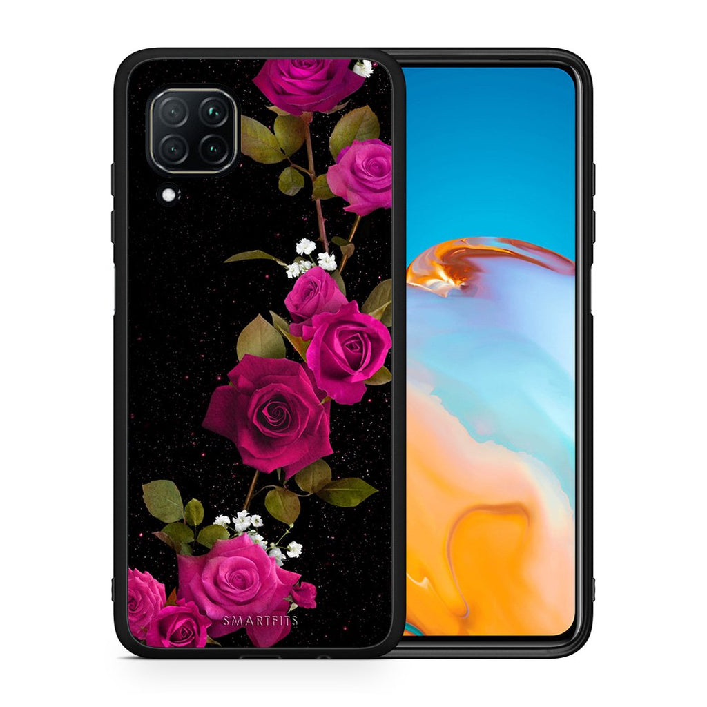 4 - Huawei P40 Lite Red Roses Flower case, cover, bumper