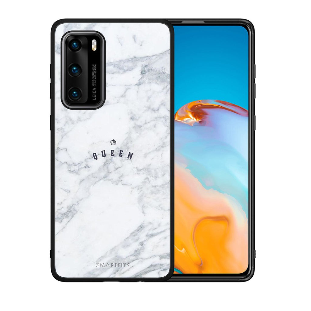 4 - Huawei P40 Queen Marble case, cover, bumper